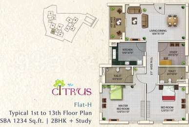 2 BHK Apartment in Oswal Orchard County