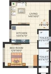 1 BHK Apartment in
