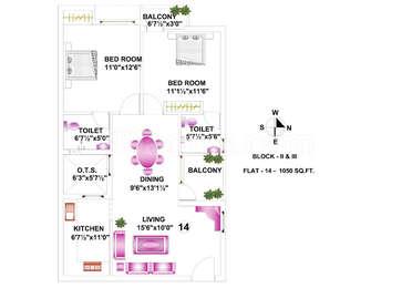 2 BHK Apartment in Pace Anusa