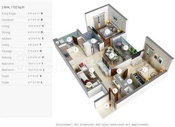 2 BHK Apartment in Pacifica Aurum Villas