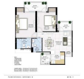 2 BHK Apartment in Panchsheel Greens 2