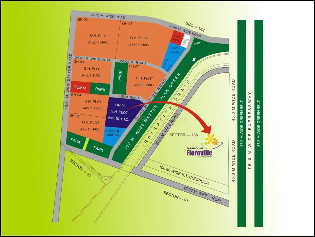 Paramount Builders Paramount Floraville Map - Paramount Floraville on