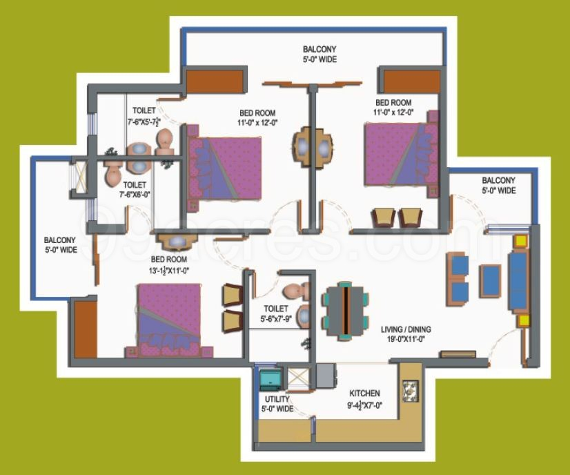 Paramount Builders Paramount Emotions Floor Plan Paramount