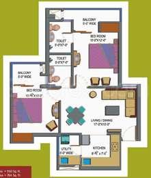 2 BHK Apartment in Paramount Emotions
