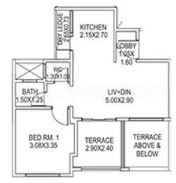 1 BHK Apartment in Paranjape Abhiruchi Parisar