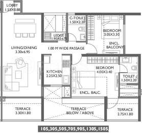 2 BHK Apartment in Paranjape Broadway