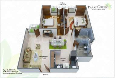 2 BHK Apartment in Paras Greens