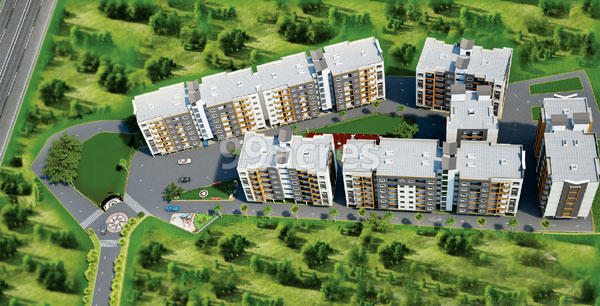 Paras Heights Aerial View