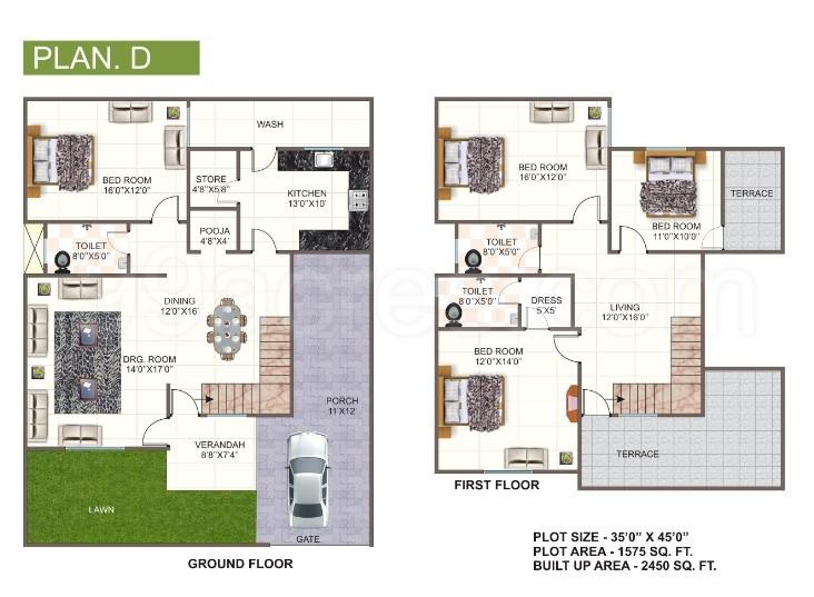 2450 paras homes paras villas floor plan paras villas hoshangabad,Paras Homes Floor Plans