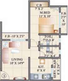 1 BHK Apartment in Cosmos 27 GBR