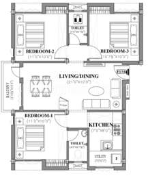 3 BHK Apartment in Pearl Residency