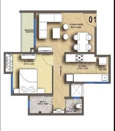1 BHK Apartment in Megapolis Springs