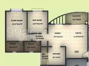 2 BHK Apartment in Megapolis Splendour