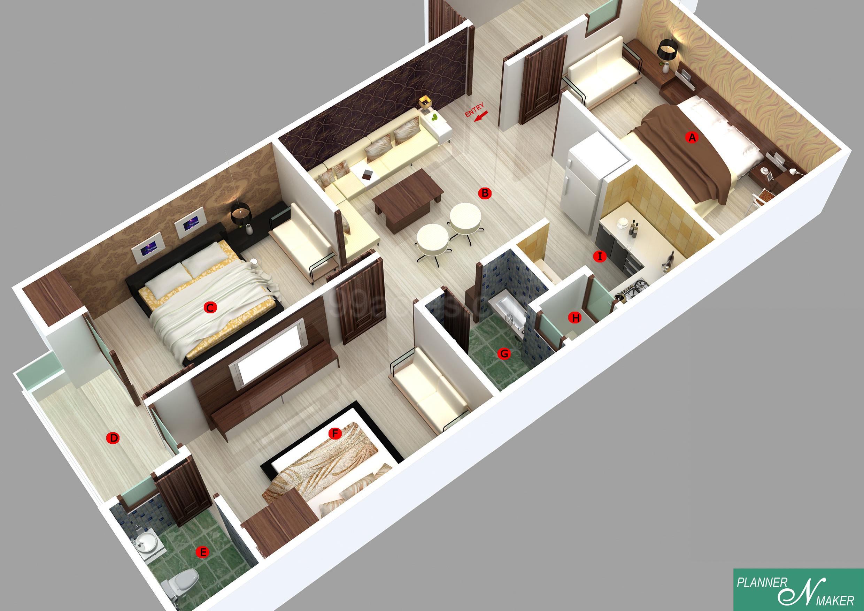 Uttam Nagar Builder Floors Floor Plan