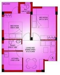 2 BHK Apartment in Poddar Mrinalani Apartments