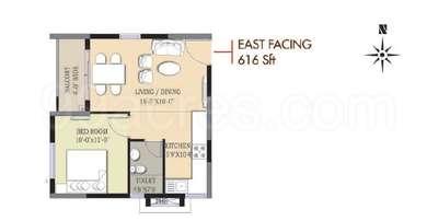 1 BHK Apartment in Prajay Megapolis