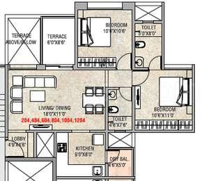 2 BHK Apartment in Prakash Royal Elegance