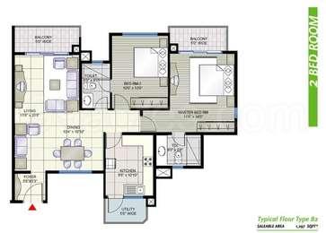 2 BHK Apartment in Prestige Shantiniketan