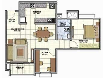 1 BHK Apartment in Prestige Sunrise Park