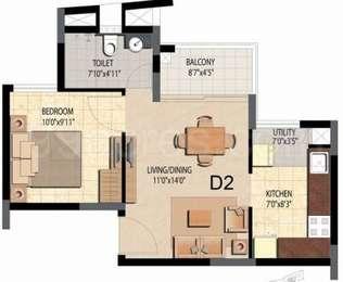 1 BHK Apartment in Prestige Bella Vista