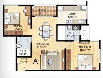 2 BHK Apartment in Prestige Falcon City