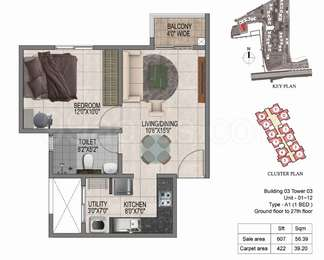 1 BHK Apartment in Prestige Jindal City