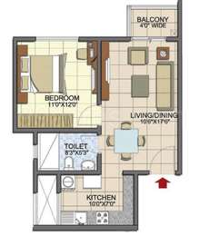 1 BHK Apartment in Prestige Song of the South