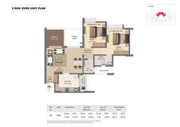 2 BHK Apartment in Kingsbury at Pride World City