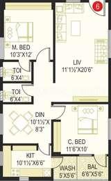 2 BHK Apartment in Prime Legend