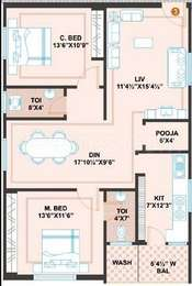 2 BHK Apartment in Prime Meadows