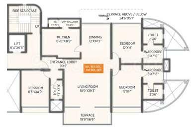 3 BHK Apartment in Privie Residences Sienna