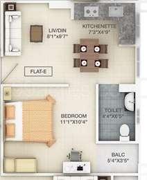 1 BHK Apartment in Prudent Prana