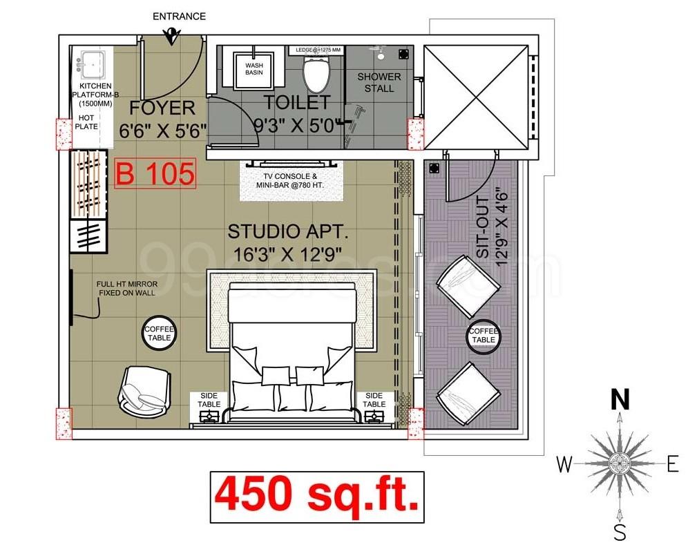 100 Studio Loft Apartments 450 Sq Ft Floor Plans 91