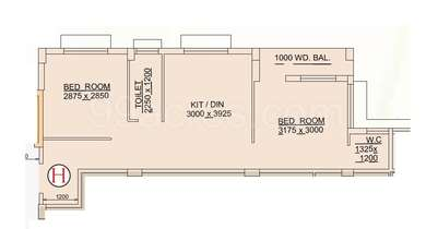 2 BHK Apartment in Puja Florence