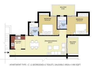 2 BHK Apartment in Puri Pratham