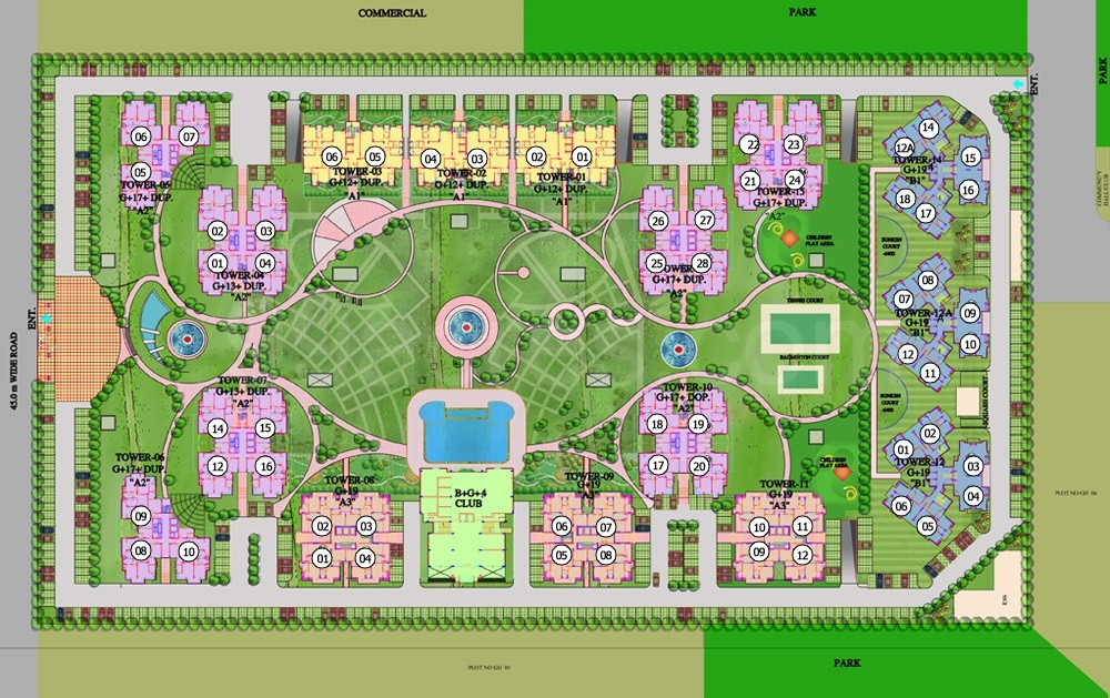 Purvanchal Projects Purvanchal Royal Park Floor Plan