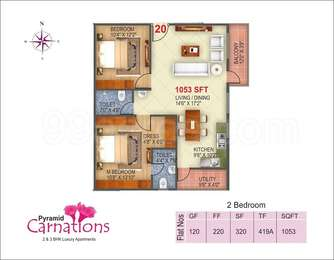 2 BHK Apartment in Pyramid Carnations