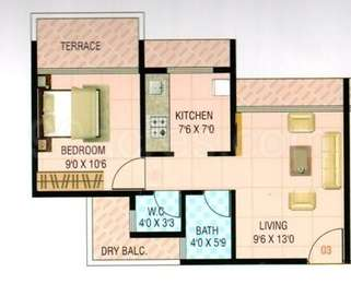 1 BHK Apartment in Pyramid Signature Heights