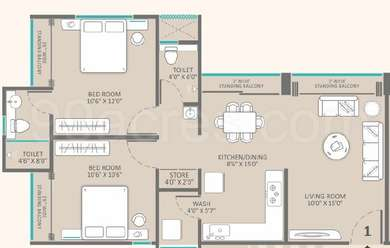2 BHK Apartment in Raama Elina