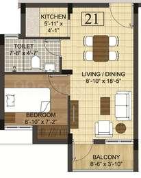 1 BHK Apartment in Radiance Mercury