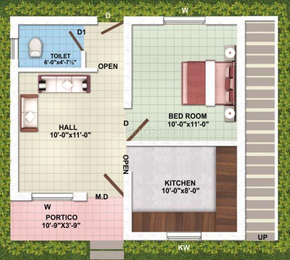 2Bhk Plan For 500 Sq Ft | Ragam Builders Ragam J J Nagar Floor Plan Ragam J J Nagar