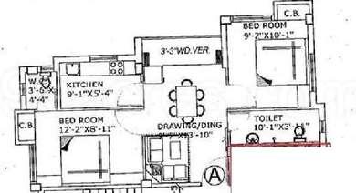 2 BHK Apartment in Raghuvar Enclave