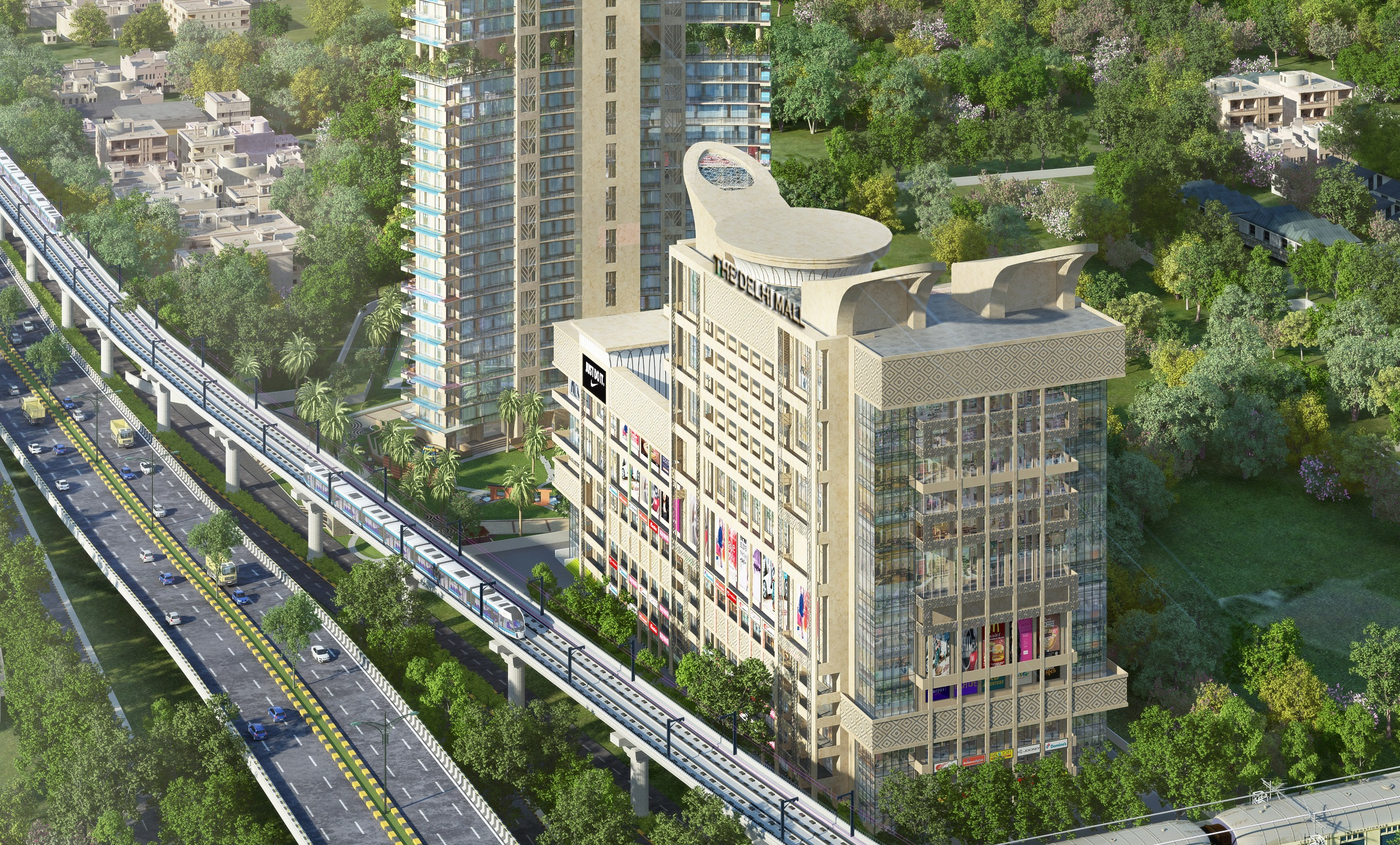Raheja The Delhi Mall Aerial View