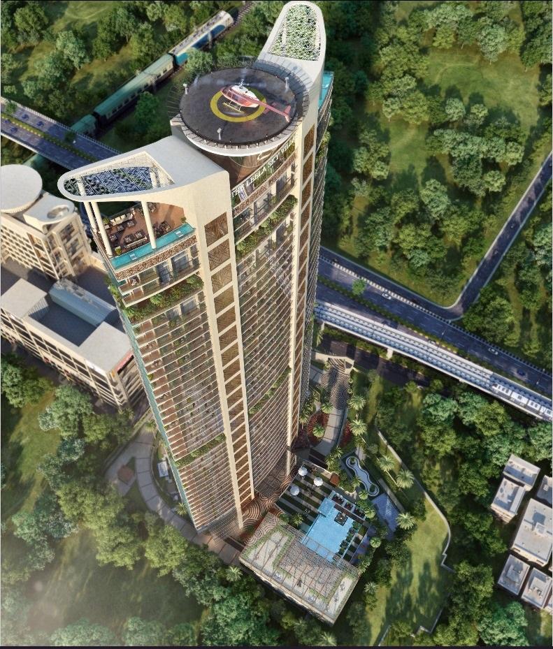The Leela Sky Villas Aerial View
