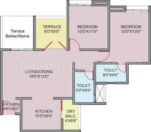 2 BHK Apartment in Revell Orchid Phase 2