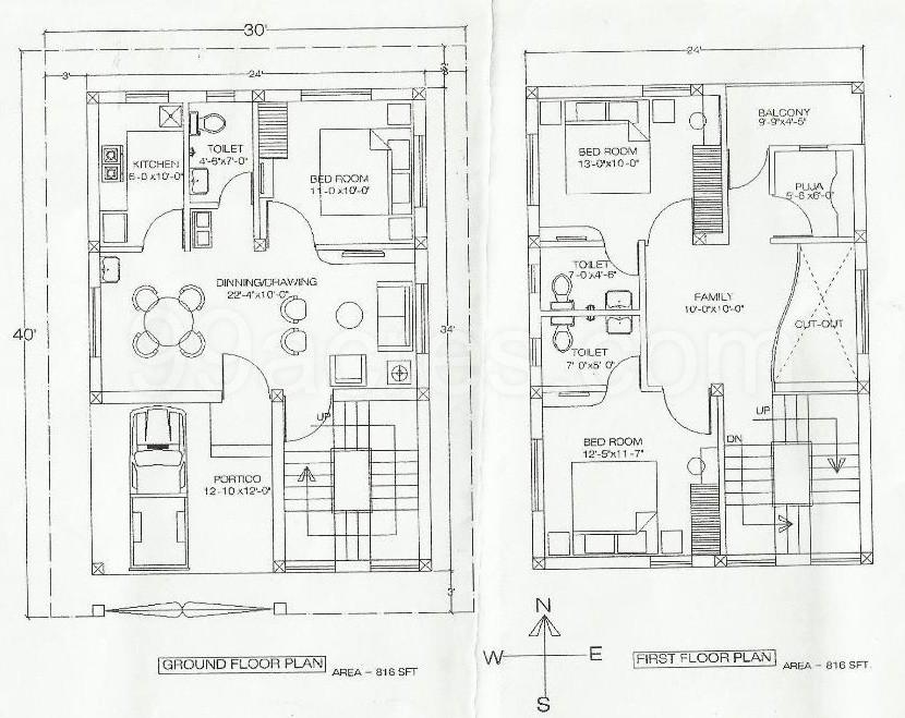Raj Anand Builders Raj Anand G Next Duplex Floor Plan
