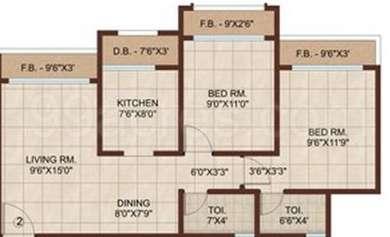 2 BHK Apartment in Raj Exotica