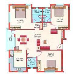 3 BHK Apartment in Rajahs Prashanthi