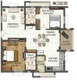 2 BHK Apartment in Rajapushpa Atria