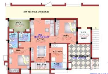 2 BHK Apartment in Rajparis Crystal Springs